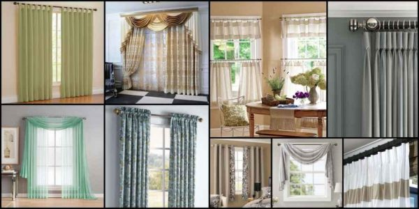 What are the various types of curtains?
